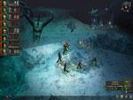 Eishöle mit Skelette von einem Monster