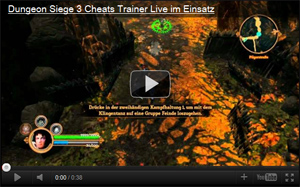 Screenshot des Dungeon Siege 3 Cheat Videos