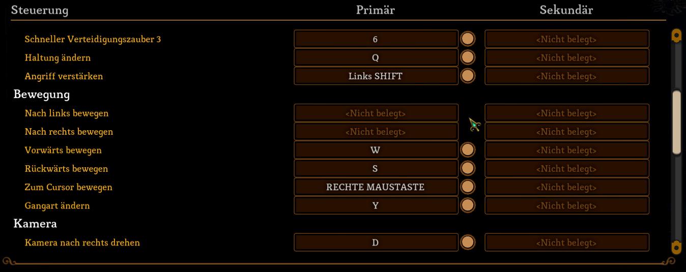 Tastaturbelegung Dungeon Siege 3